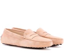 Loafers Gommino aus Veloursleder