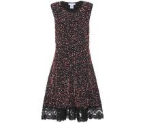 Bouclé-Kleid mit Spitze