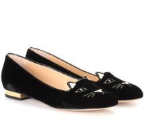 Samt-Slippers Kitty
