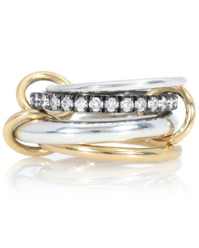 Ring Janssen aus 18kt Gelbgold und Sterlingsilber