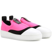 Sneakers aus Neopren und Leder