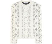 Verzierter Pullover aus einem Woll-Alpaka-Gemisch