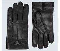 Handschuhe aus Leder mit Logo