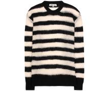 Gestreifter Pullover aus Wolle, Mohair und Cashmere