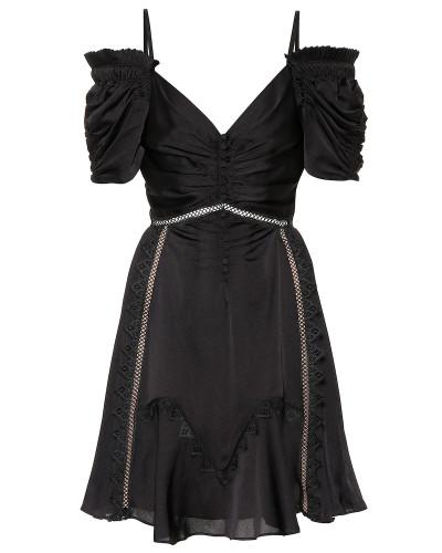 Minikleid aus Satin
