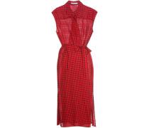 Wickelkleid aus Gaze aus einem Baumwoll-Wollgemisch