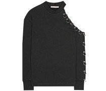 One-Shoulder-Sweatshirt aus Baumwolle