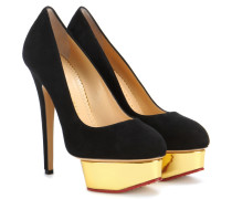 Plateau-Pumps Dolly aus Veloursleder