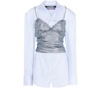 Hemd aus Baumwolle mit Metallic-Besatz