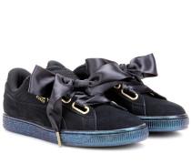Sneakers Heart aus Veloursleder