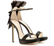 Verzierte Satin-Sandaletten Faye