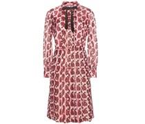 Fil-Coupé-Kleid aus Seidengemisch