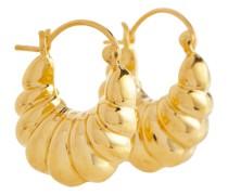 Vergoldete Creolen Shell aus Sterlingsilber