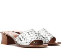 Sandaletten aus Intrecciato-Leder