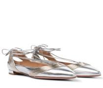 Ballerinas Ari aus Metallic-Leder