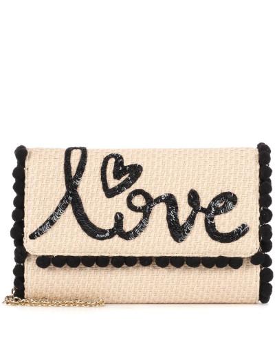 Auslass Amazon 2018 Dolce & Gabbana Damen Verzierte Schultertasche aus Bast Verkauf Besten Platz Kauf Verkauf Online YHdoJdRfHj