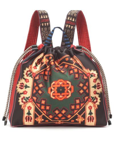 Bedruckter Rucksack aus Satin
