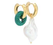 Vergoldete Creolen mit Perle