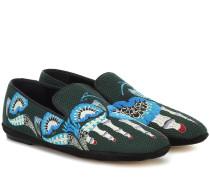 Bestickte Loafers