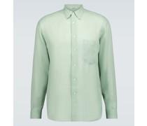 Transparentes Hemd aus Leinen