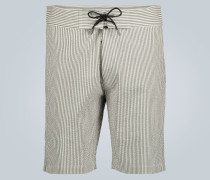 Straight-Leg Shorts aus Leinen