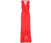 Kleid aus Jersey und Strick