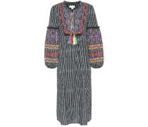 Kleid Ilene im Kaftan-Stil aus Baumwoll-Leinen-Gemisch