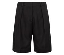 Mid-Rise Shorts aus Crêpe