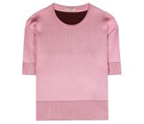 Kurzärmeliger Sweater aus Wolle und Seide