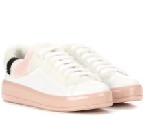 Sneakers Mirror aus Glattleder mit Fell