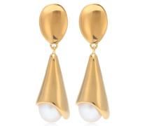 Vergoldete Ohrringe Anna mit Perlen