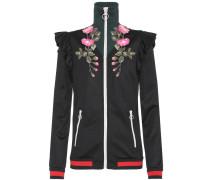 Jacke aus technischem Jersey mit Stickerei