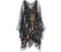 Bedrucktes Kleid aus Seiden-Krepon