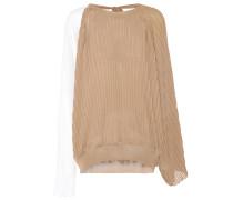 Bluse aus Seide und Baumwolle