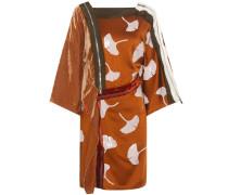 Verziertes Kleid aus Satin und Samt