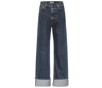 High-Rise Straight Jeans Dark Femme Hi