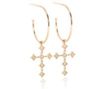 Ohrringe Divine Hoops aus 18kt Gold mit Diamanten