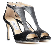 Sandaletten Lana 100 aus Samt
