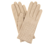 Intrecciato-Handschuhe aus Leder
