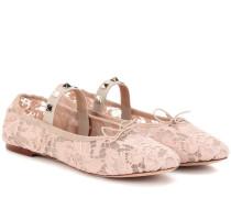 Garavani Ballerinas Rockstud Ballet aus Spitze