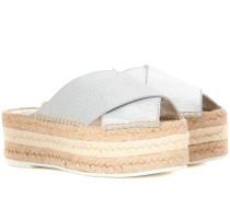 Sandalen mit Espadrilles-Sohle