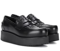 Loafers aus Leder mit Plateau