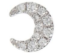 Einzelner Ohrring Diamond Moon aus 18kt Weißgold
