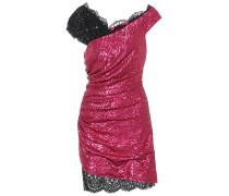 Minikleid mit Pailletten und Spitze