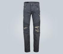 Skinny Jeans in Distressed-Optik