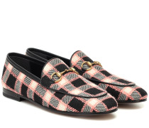 Karierte Loafers Jordaan aus Tweed