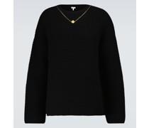 Verzierter Pullover aus Wolle und Kaschmir