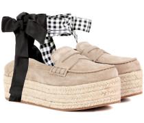 Espadrilles-Loafers aus Veloursleder