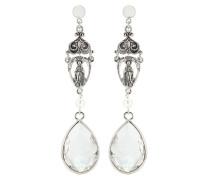 Ohrringe mit Perle und Kristallstein