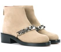 Ankle Boots mit Kettenverzierung